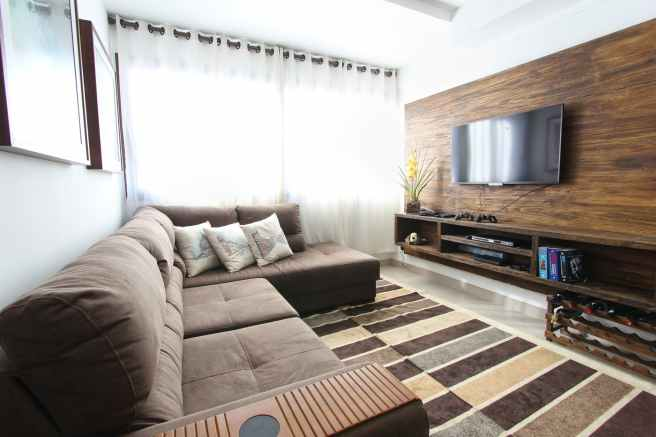 apartment contemporary couch curtains